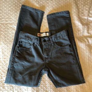 Levi's Bottoms - LEVI'S 511 Boys Slim Fit Jeans Grey Sz 10R